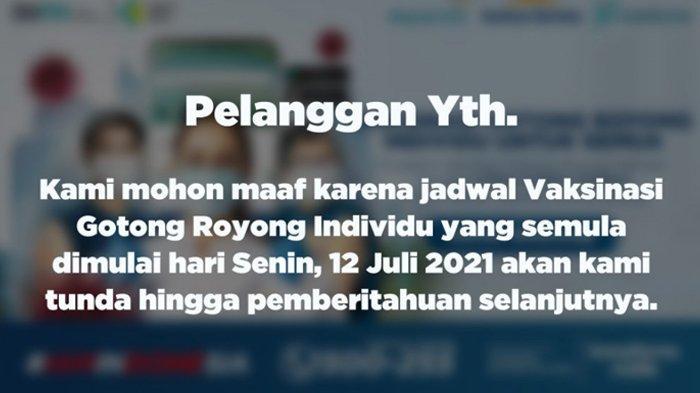 Dijadwalkan Mulai 12 Juli 2021, Vaksinasi Covid-19 Berbayar Kimia Farma Mendadak Ditunda, Ada Apa?