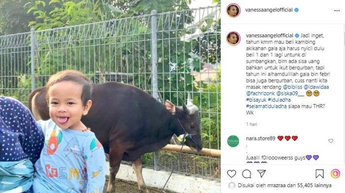 Vanessa Angel teringat tahun lalu belum bisa berkurban, bahkan beli kambing untuk akikah masih nyicil