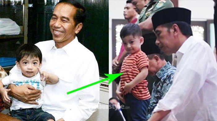 Video Jan Ethes Salat Berjamaah Bareng Sang Kakek Jokowi Jadi Trending Topic, Lalu di Mana Kaesang?