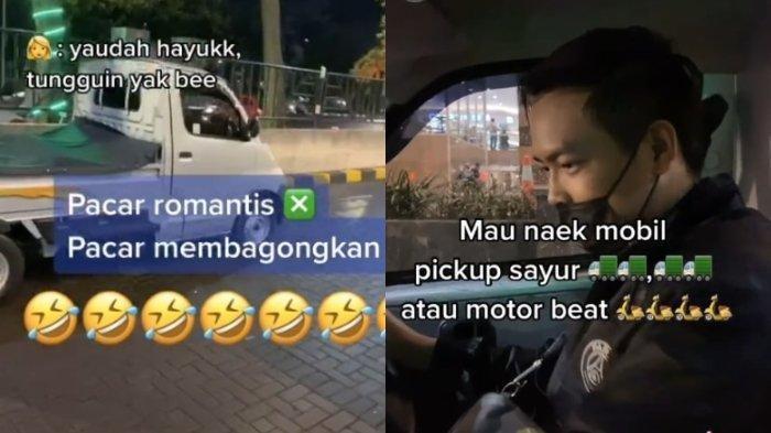 VIRAL Pria Jemput Pacar Pulang Kerja Pakai Mobil Pick Up: Kalau Dah Sayang, Dunia Milik Berdua