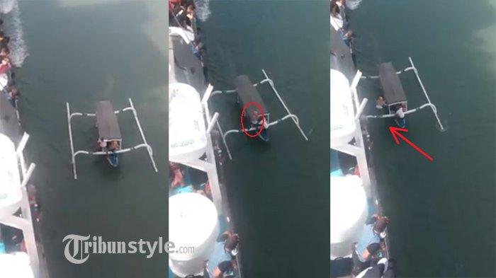 Video Perjuangan Mudik, Ketinggalan Kapal Pemudik Kejar Pakai Perahu Sampan, 'Hati-hati Buk!'