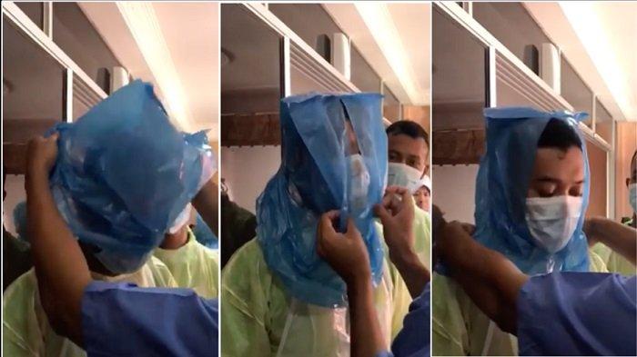 VIDEO Petugas Medis Pakai Tas Plastik untuk APD, Kantong Sampah & Jas Hujan Digunakan Tangkal Corona
