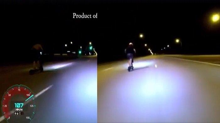 Video Viral, Penunggang Skuter Elektrik Ini Balapan di Jalan Besar di Singapura, Capai 120 Km/Jam