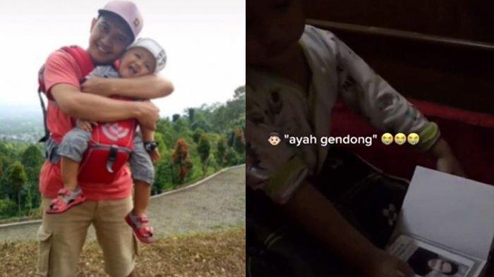 VIRAL Balita Pandangi Foto Ayahnya di Buku Yasin, Pilu Angkat Tangan & Minta Gendong: Ayah Gendong