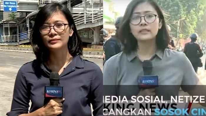 VIRAL Cindy Permadi Reporter Kompas TV yang Bikin Khawatir Netizen Saat Liput Aksi 22 Mei