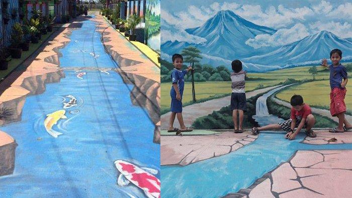 Viral Cuma Seumur Jagung, Lukisan 3D di Kampung Pamulang Barat Dirusak Ibu-ibu
