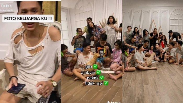 Viral di TikTok, sesi foto keluarga memakai baju compang camping