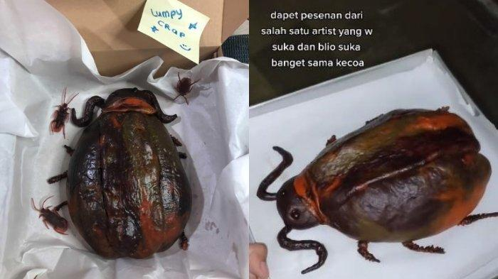 Roti Jumbo Bentuk Kecoak Viral di Medsos, Ternyata Ini Inspirasi si Pembuat Cemilan Serangga