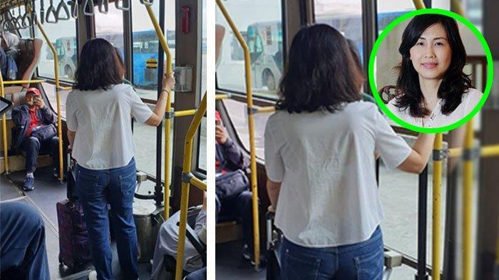 Viral Foto Diduga Veronica Tan Naik Bus Transit Bandara saat Ramai Kabar Pernikahan Ahok & Puput