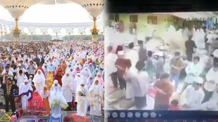 Viral Kejadian Saat Sholat Idul Adha 2019, Sapi Lepas & Hampir Seruduk Jamaah hingga Pria Terpeleset