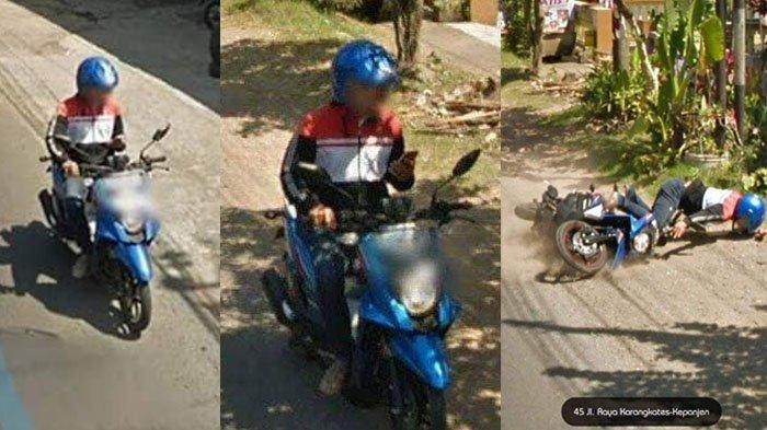 VIRAL Naik Motor Sambil Main HP, Detik-detik Kecelakaan di Malang Ini Terekam Google Street View