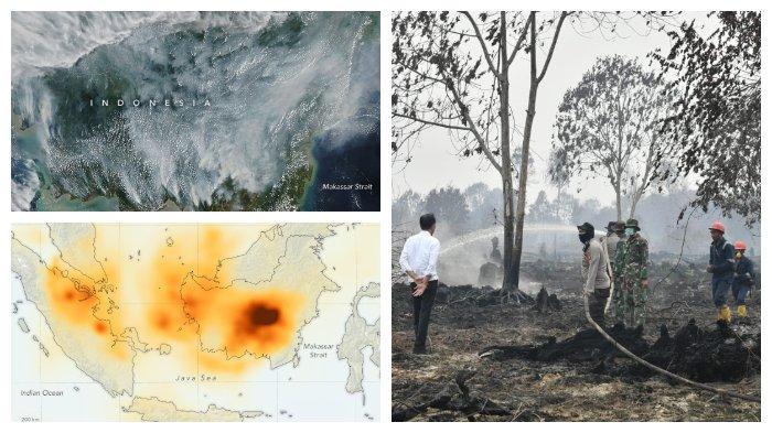 Diselimuti Kabut Asap Karena Karhutla, Begini Penampakan Miris Kalimantan Dilihat dari Satelit NASA