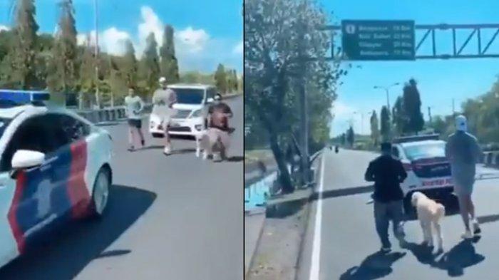 Viral orang joging dikawal mobil polisi