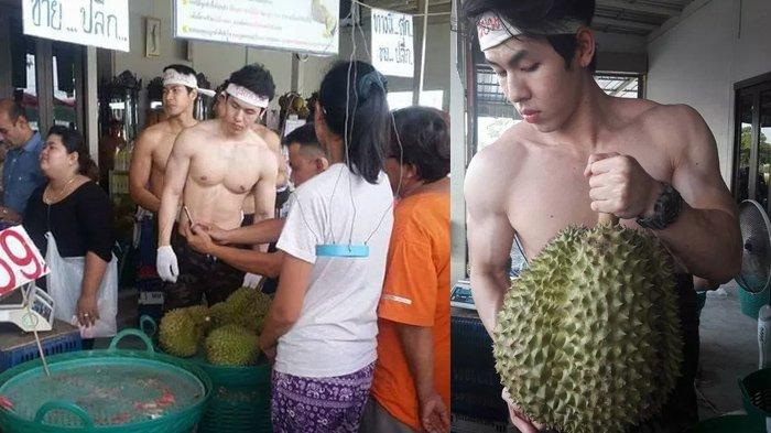 Viral Pedagang Durian Ganteng di Pasar, Penjualan Langsung Meningkat!
