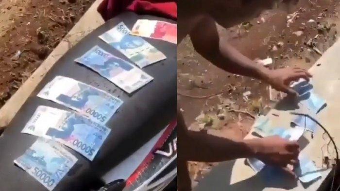 AWALNYA Biasa Saja Temukan Rp 100 Ribu, Petani Syok Ternyata Ada Rp 10 Juta Uang Hanyut di Selokan