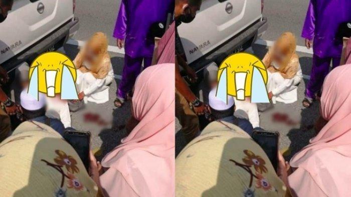 VIRAL Pasangan Pengantin Tergeletak Bercucuran Darah di Jalan, Kisah Pedih di Balik Foto Pilu Ini