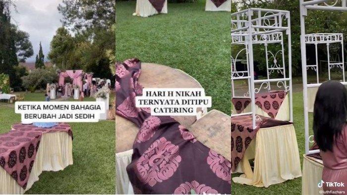 Kirim WA 'Saya Otw Bismillah', Jasa Catering Ternyata Penipu, Pengantin Malu, Stand Makanan Kosong