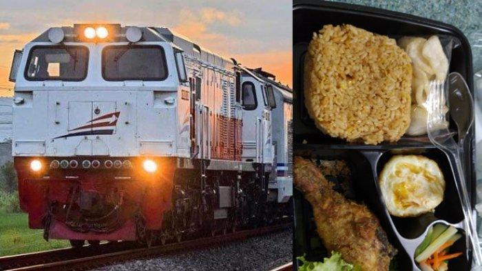 Viral penumpang mengeluh harga makanan di kereta api mahal.