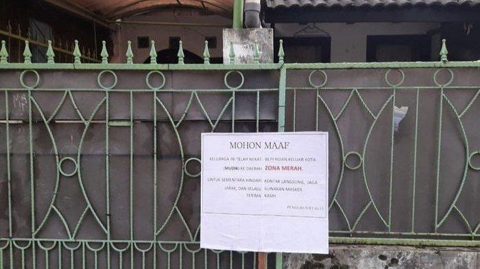 VIRAL Sanksi Tegas Ketua RT untuk Warganya yang Mudik Saat Pandemi Corona, Pasang Plang Bertulis Ini