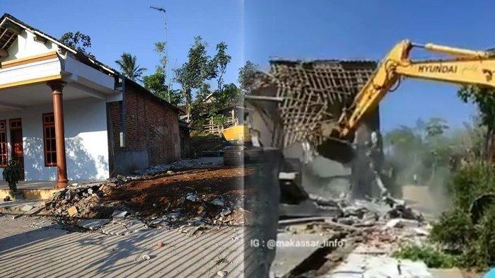VIRAL Rumah Dirobohkan di Malang hingga Warga Heboh Bersorak, Diduga Karena Perselingkuhan