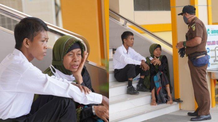 VIRAL Ibu Temani Anak Seleksi CPNS, Momen Duduk di Tangga Curi Perhatian, Nasib Baik Belum Berpihak