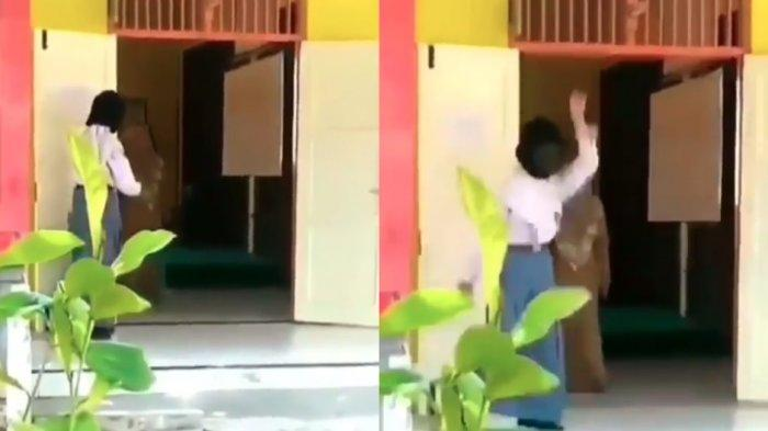 Viral Siswi Pakai Topeng Monyet untuk Kageti Temannya Justru Dihadang Guru, Lari Tunggang Langgang