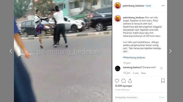 VIRAL Video Diduga 2 Anggota TNI Adu Hantam dengan Polisi di Tengah Jalan Palembang, Begini Akhirnya