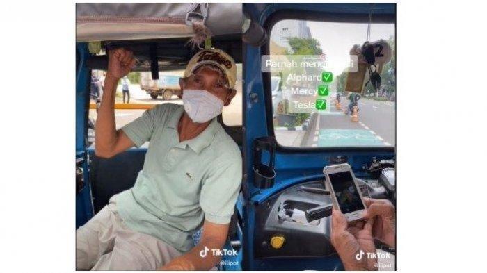 VIRAL Naik Bajaj Serasa Menaiki Mobil Mewah, Baru Terkuak Sang Supir Ternyata Sering Bawa Mercy