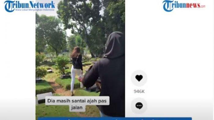 Viral wanita diajak ke makam mantan pacarnya