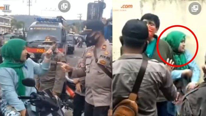 Viral wanita mengaku istri jaksa saat kena razia tak pakai masker