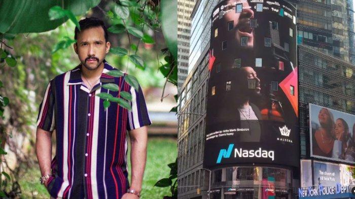 Berkat Lagu Never Stand Alone, Wajah Maruli Tampubolon Mejeng di Times Square New York