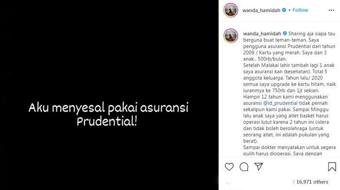 Wanda Hamidah merasa kecewa dengan asuransi Prudential