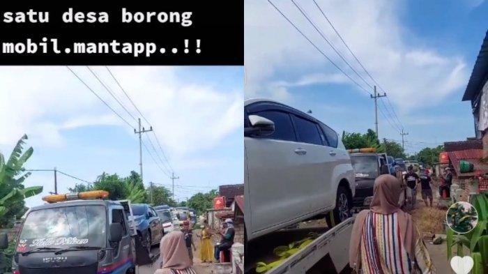 Warga sedesa di Tuban borong mobil