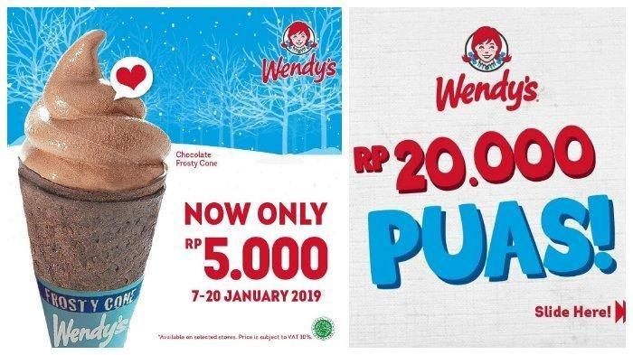 Promo Wendys Bulan Januari, Es Krim Chocolate Frosty Cone Hanya Rp 5 Ribu Saja