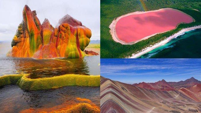 INDAH Bentuk & Warna, 7 Tempat Eksotis Sedunia, Danau Pink di Australia hingga Pamukkale di Turki
