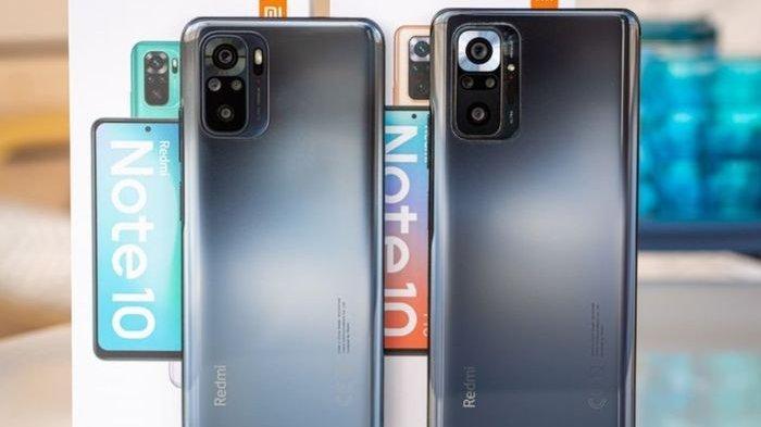 Xiaomi Redmi Note 10 (kiri) dan Redmi Note 10 Pro (kanan)