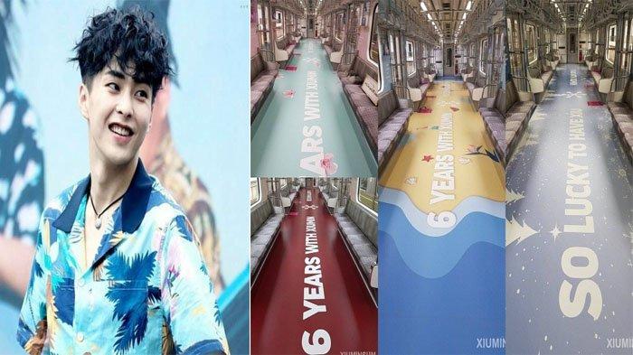 Rayakan Ultah ke-6 EXO, Fans Korea Buat Dekorasi Subway Bertema Xiumin, Cantik!