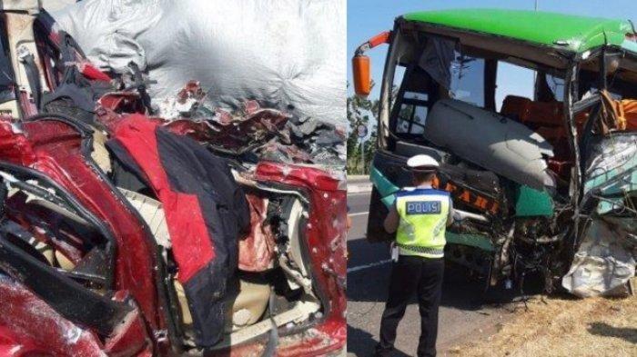 Xpander mobil paling hancur di kecelakaan tol Cipali