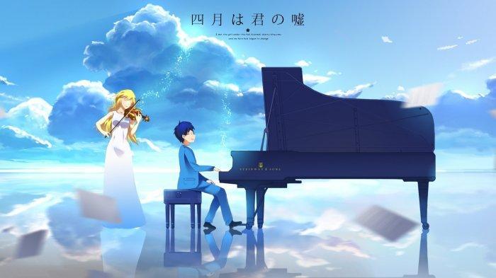 Anime Your Lie In April jadi salah satu yang bergenre romance school