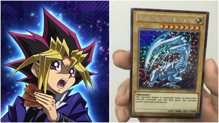 Pernah Punya Kartu Blue Eyes White Dragon? Kartu Anime Yu-Gi-Oh! Ini Dijual Seharga Rp 1 Triliun