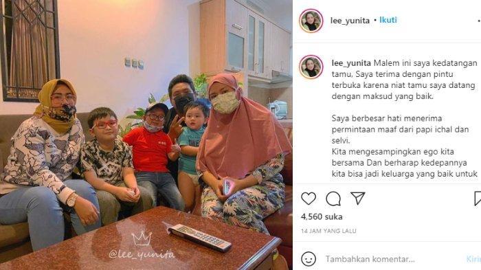 Yunita Lestari bagikan momen Daus Mini dan Shelvie bertemu Ichal