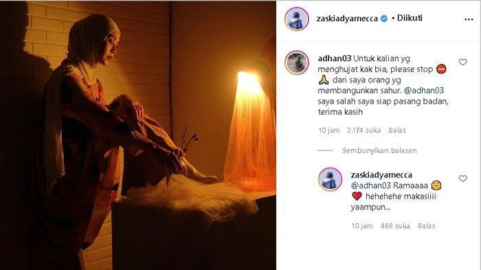 Zaskia Adya Mecca dapat pembelaan dari pelaku membangunkan sahur pakai toa.