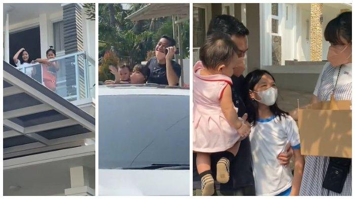 Zaskia Gotik dan Sirajuddin Mahmud memberikan kejutan ulang tahun Aqila