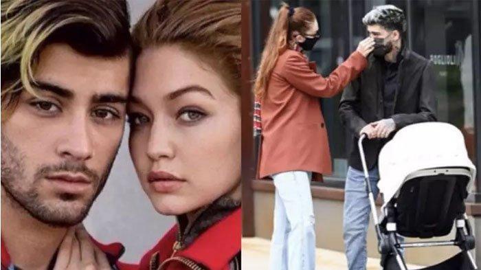 Zayn Malik dan Gigi Hadid mengajak jalan-jalan anaknya.