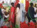 Video Detik-detik Evi Masamba Pingsan di Pelaminan, Ambruk di Pangkuan Suaminya