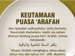 Idul Adha 2019 - Jadwal Puasa Tarwiyah dan Puasa Arafah, Simak Tanggal, Keutamaan & Bacaan Niatnya