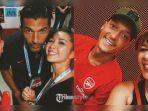 Deretan Foto Andrea Dian dan Ganindra Bimo Bersama Pemain Sepakbola Top Dunia di Singapura