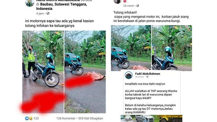 Mayat Wanita Tewas Tengah Jalan Baubau, Dugaan Dilindas Mobil Plat Merah, Polisi: Masih Penyelidikan