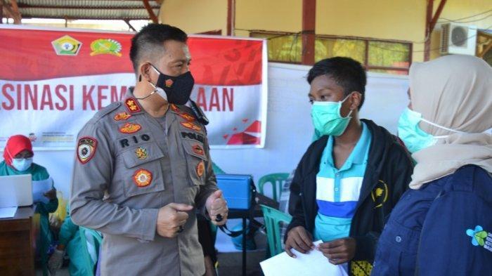 Rayakan Hari Kemerdekaan, Polres Baubau Gelar Vaksinasi Massal: Sehari 1.608 Orang Disuntik