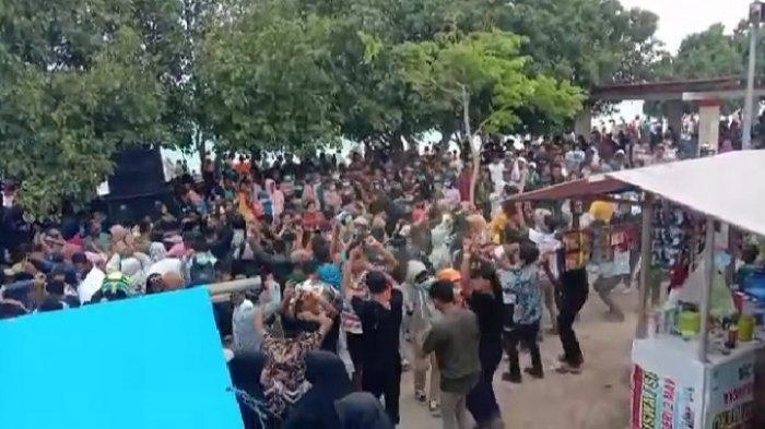 Viral Kerumunan Warga Joget-joget di Pantai Mutiara Buton Tengah, Diduga Langgar Prokes Covid-19